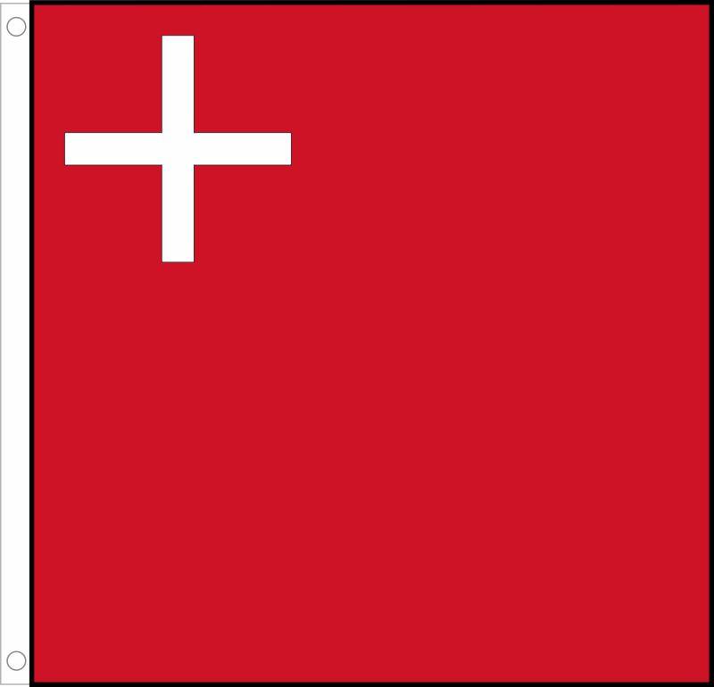 Fahne Schweiz Kanton Wallis Hissflagge 60 x 60 cm Flagge